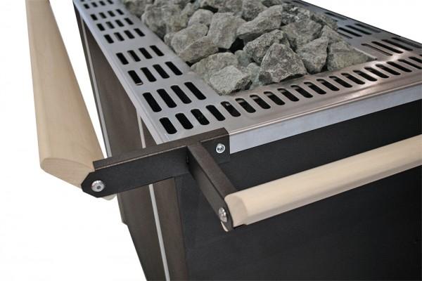 Goliath Ofenschutz-Halterung mit Schutzreling für Saunaofen Goliath (Standausfürhung, Profi)