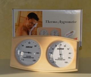 Thermo- und Hygrometer der Firma Harvia