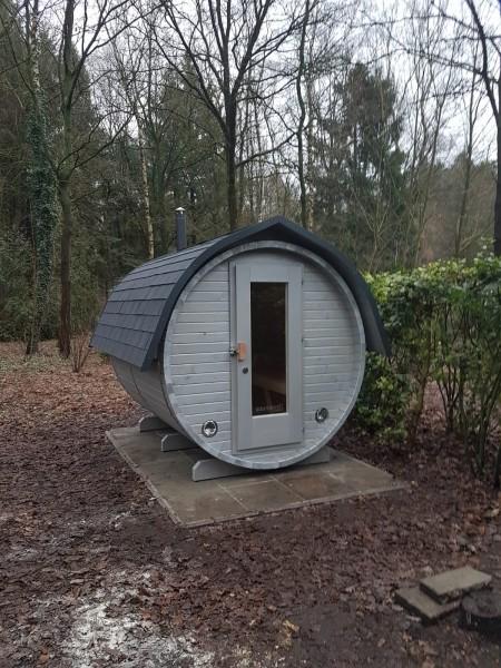 Fass-Sauna Bausatz, 2400 mm Länge,holzbefeuert