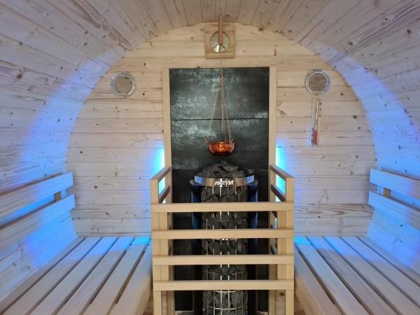Fass-Sauna Bausatz, 2400mm Länge,elektrischer Ofen