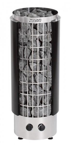 Saunaofen Harvia Cilindro mit integrierter Steuerung - Modell halb offen Cilindro PC90H schwarz blac