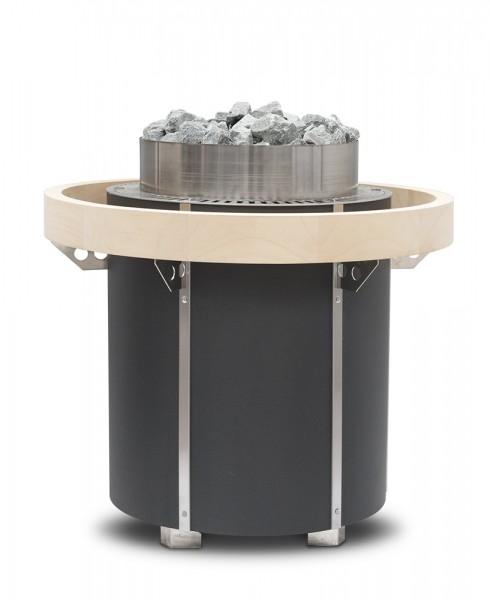 Orbit Ofenschutzreling aus Holz für Saunaofen Orbit (Standausführung, Profi), 360° Abachi